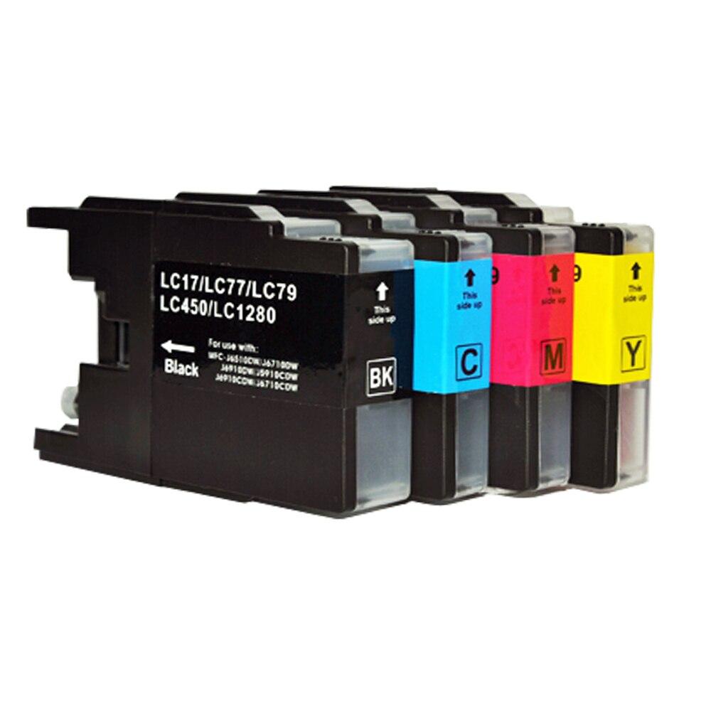 4x LC1240 cartuchos para hermano DCP-J525W J725DW MFC-J430W J625DW J6510DW J6710DW J6910DW J825DW J5910DW impresora
