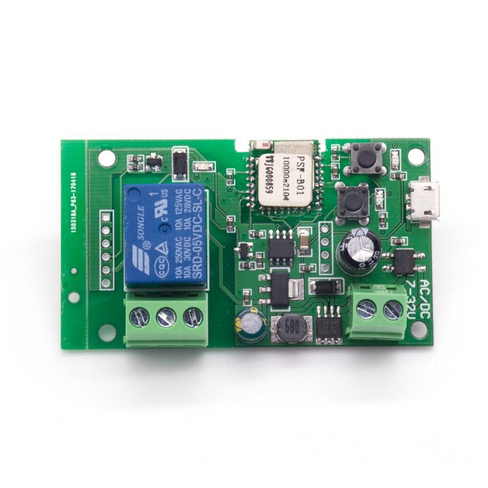 Sonoff wifi inteligente controle remoto diy módulo universal dc5v 12 v 32 v auto-bloqueio wi-fi interruptor temporizador para casa inteligente