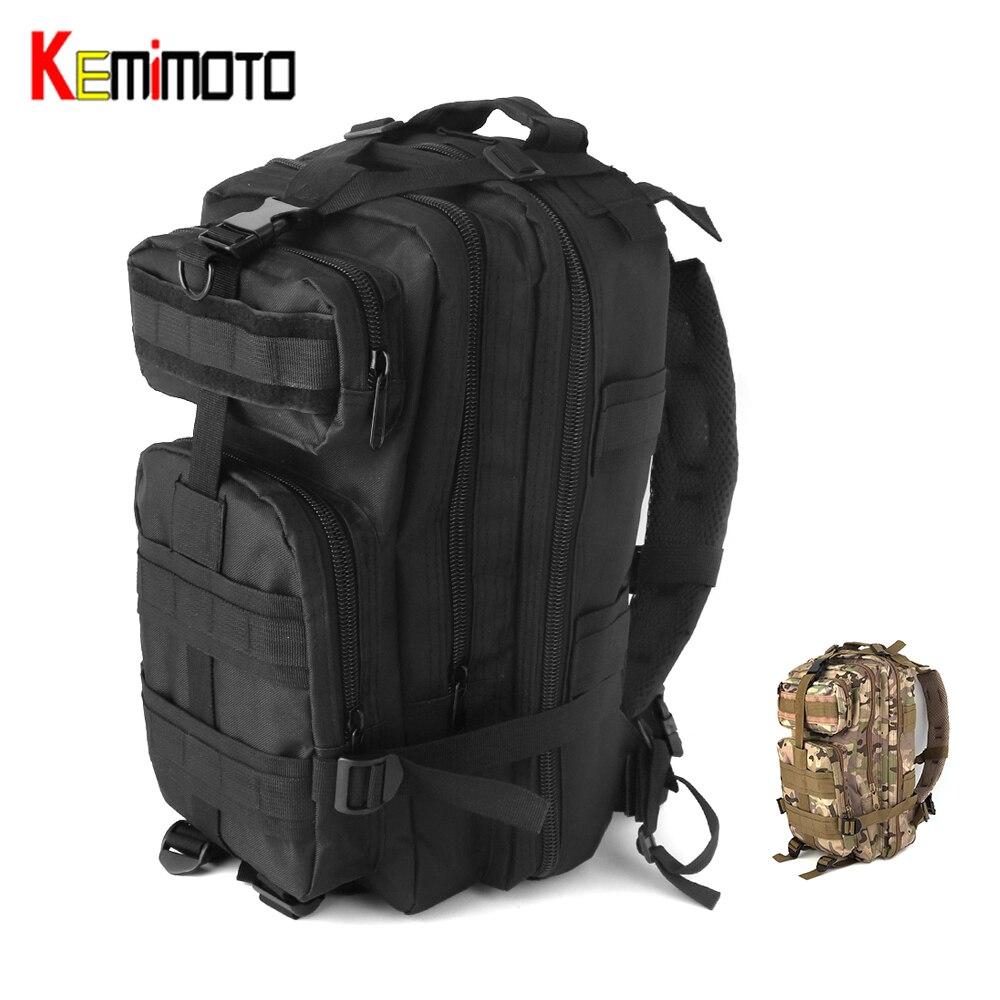 KEMiMOTO Motorcycle Bag Outdoor Hiking Backpack Tail Saddle Bag Rear Bag Hiking Trekking Camouflage Travel Bag Camouflage/Black