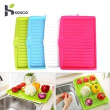 KONCO-égouttoir à vaisselle en plastique   Égouttoir à vaisselle, égouttoir à légumes et de fruits, sur le plan du travail, pour la cuisine et le lavabo