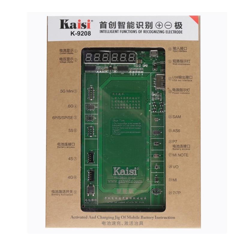 ¡Novedad! Placa de carga de activación de batería profesional Kaisi K-9208 Cable Micro USB para iPhone x xs para VIVO Huawei Samsung xiaomi