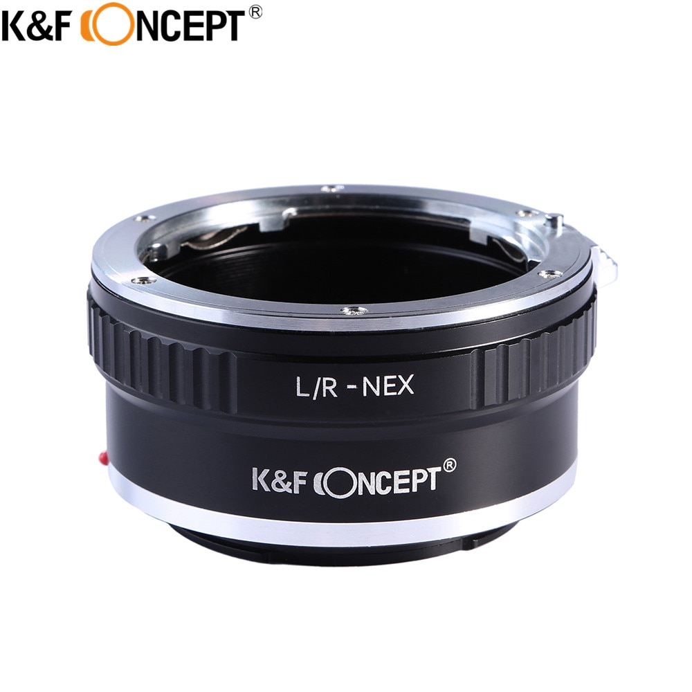 K&F CONCEPT For L/R-NEX Camera Lens Mount Adapter Ring For Leica R Mount Lens to for Sony E-Mount Camera Body NEX NEX3 NEX5