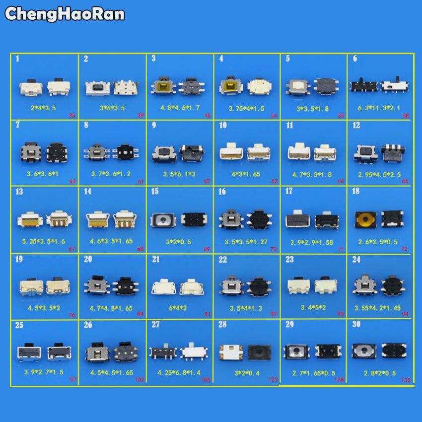 ¡Precio de promoción ChengHaoRan! Juego de Interruptor táctil SMD para iPhone 4,...