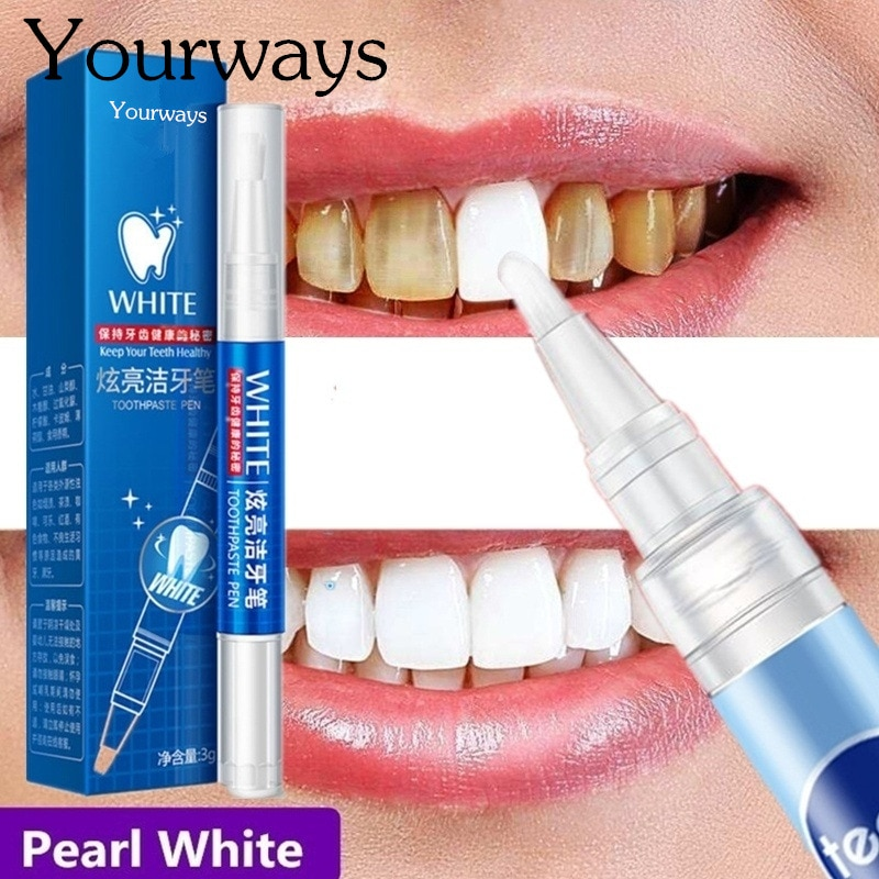 YOURWAYS Magic Natural Teeth Whitening Gel Pen Oral Care Remove Stains Tooth Cleaning Teeth Whitener Tools