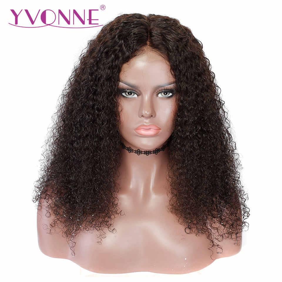 Yvonne Pelucas De Cabello Humano Rizado Malayo Pelucas Frontales De Encaje Virgen Para Mujer Color Natural Wigs For Blacks Wigs For Black Womenwigs Free Shipping Aliexpress