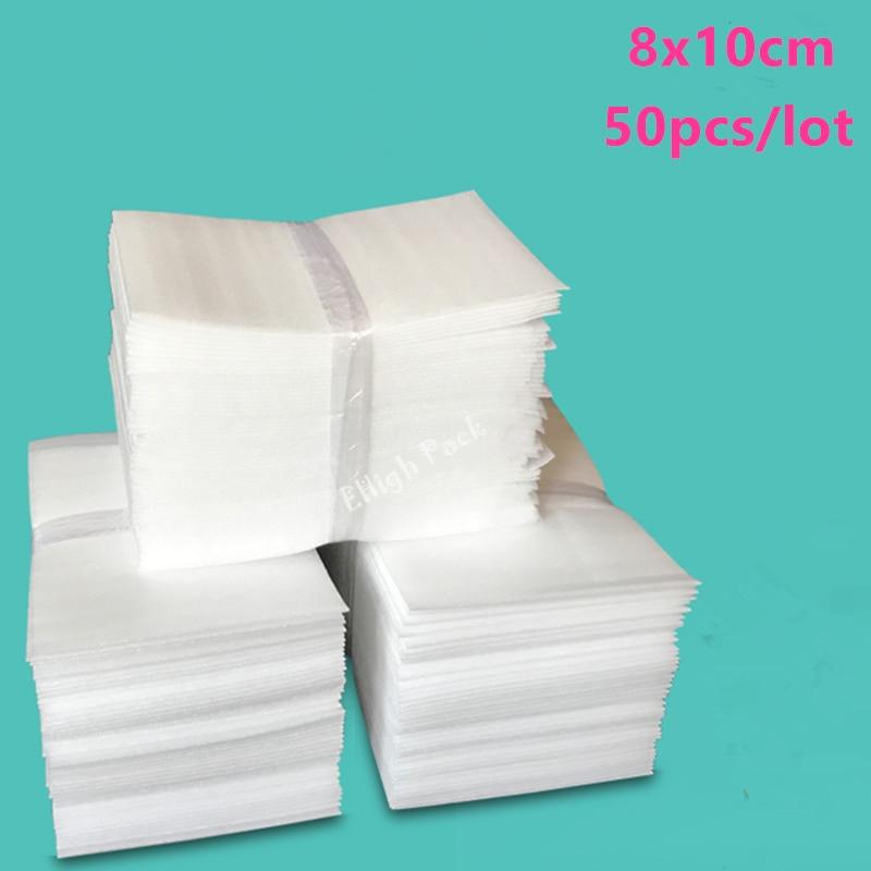 8*10cm (3.15*3.94 polegadas) 0.5mm 50 pces folha protetora da espuma da isolação de epe que amorteça malotes de empacotamento material de embalagem