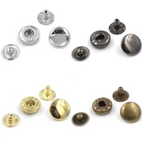 50sets lot10mm metal snap fastener buttons rivet t8 t5 t3 snaps jacket buttons clothing accessories sewing repair snaps