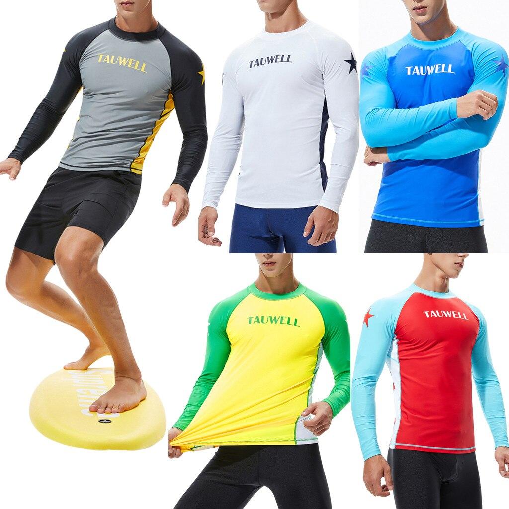 Men Long Sleeve Rashguard UV Sun Protection Skins 18 Surfing Diving Swiming Men diving suit surfing suit 2019 new Fashion A30430