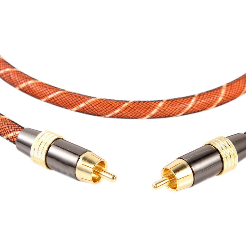 1/2/3/5/8/10M Coaxial Digital de Audio/vídeo RCA Cable Coaxial oro QJY99