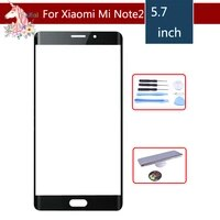 original mi note2 touchscreen 5 7 for xiaomi mi note 2 note2 glass digitizer front outer panel lens replacement repair part