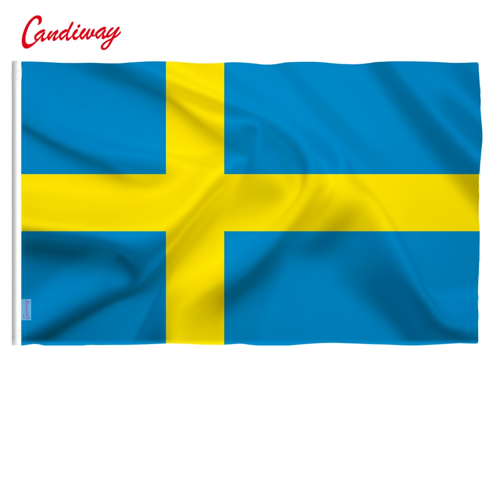 90x150 см, высокое качество, полиэстер, Шведский флаг, шведский, для украшения дома, для занятий флагами, NN064