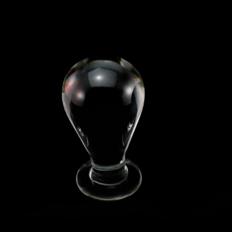 Gran tamaño 6cm Cristal de hongo Plug Anal Butt Beads masturbación masculina femenina juguetes sexuales estimulación Anal producto sexual adulto