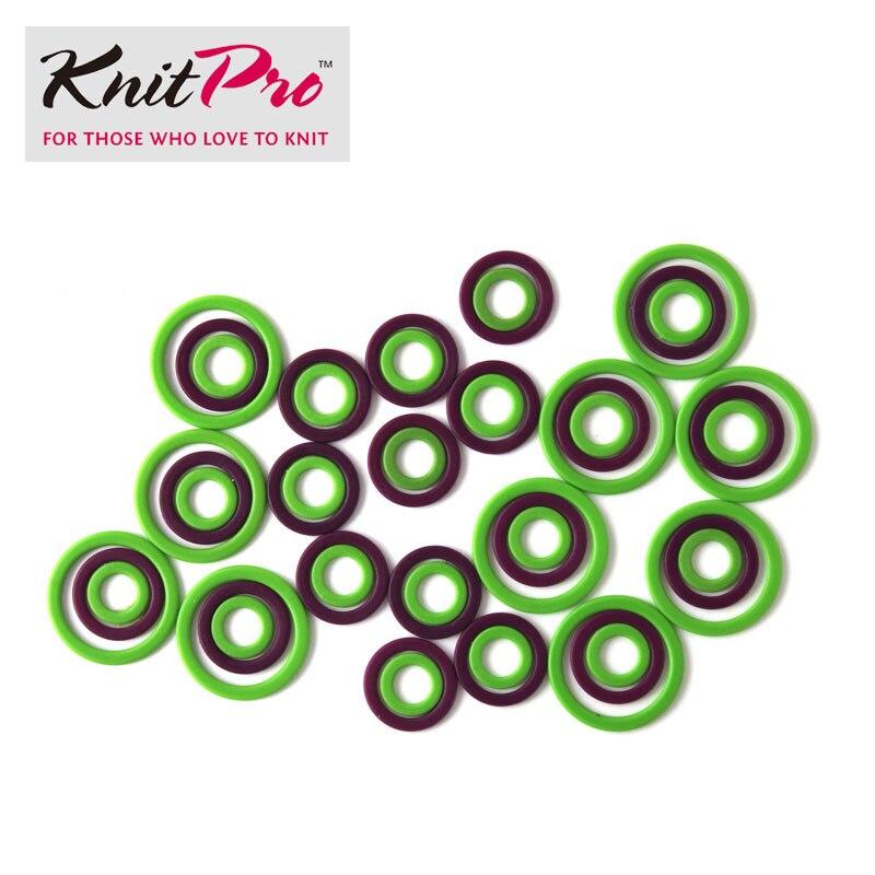 Knitpro tricô ponto marcadores/agulhas de plástico travamento ponto marcadores para tricô e crochê diy artesanato tecelagem ferramentas