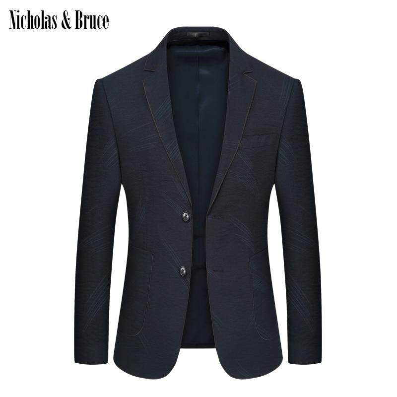 N & B traje chaqueta 2019 hombre Formal negro Blazer para hombre vestido chaqueta para hombre para bodas Delgado traje chaqueta vestido Blazer SR15