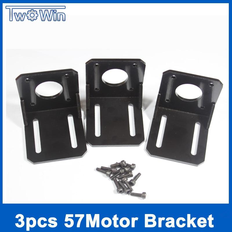 3 unids/lote NEMA 23 57 soporte de Motor paso a paso, Base del Motor, montaje de Motor paso a paso con 3 juegos de tornillos de montaje, asiento de montaje fijo para