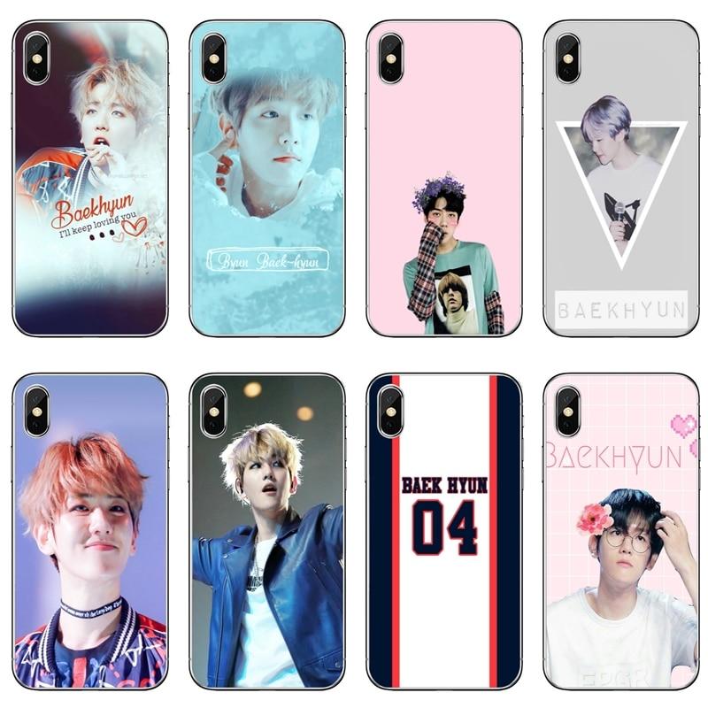kpop exo BAEKHYUN phone case For Samsung Galaxy J8 J6 J4 Plus Prime J7 J5 pro J3 J2 2018 2017 2016 soft cover