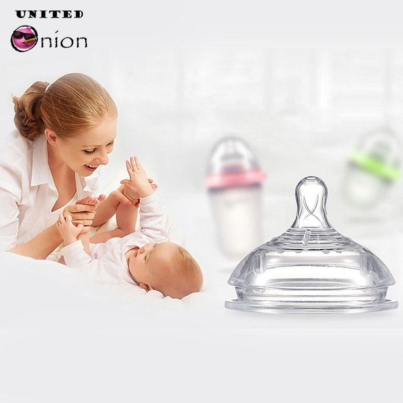 Chupete de silicona de gran calibre natural anticólico de flujo medio para bebés recién nacidos de 0 a 24 meses de reemplazo de botella de leche