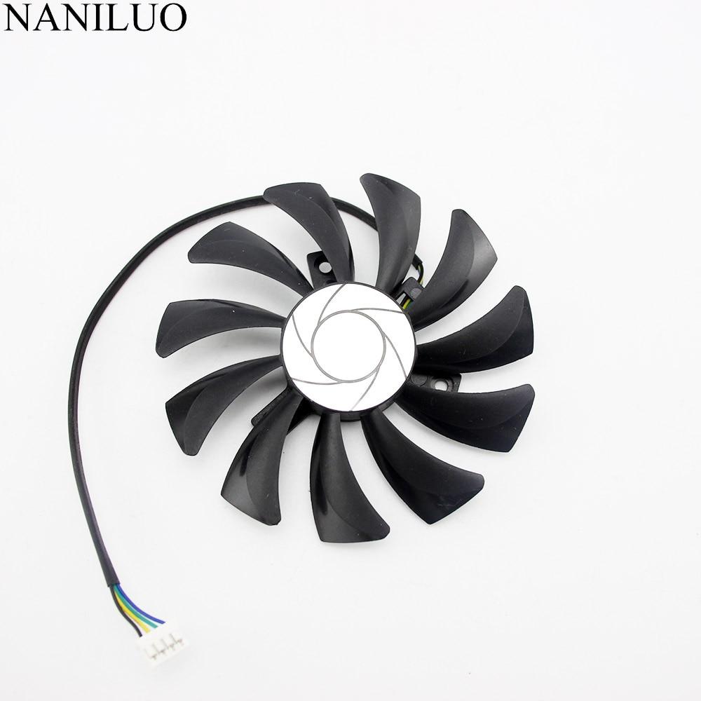 85mm 4pin HA9010H12SF-Z RX460 4GB Cooler Fan Replace for MSI Inno3D P106 960 GeForce GTX 1060 AERO ITX 3G 6G OC Video card