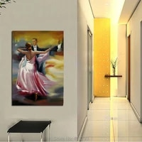 fiery dance handcraft portrait oil painting on canvas art wall decor modern abstract decorative pictures home decor
