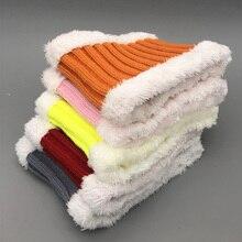 Bufanda de invierno 2020 para niños bufandas de cuello de lana gruesa para niñas bufanda Unisex de algodón