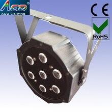 HOT 10* Lot 7*10w 4in1 rgba black color housing high power mini led stage flat par cans light 6pcs/Lots