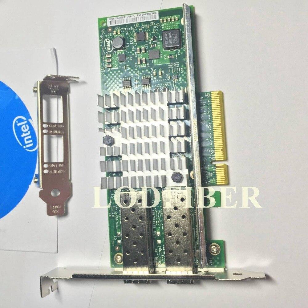 Intel X520-DA2 10 Gigabit 10GBe SFP puerto dual Ethernet, servidor de red adaptador