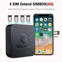 multi 4 sim dual standby no roaming 4g sim router for ios android simboxwork with wifi data to make call sms
