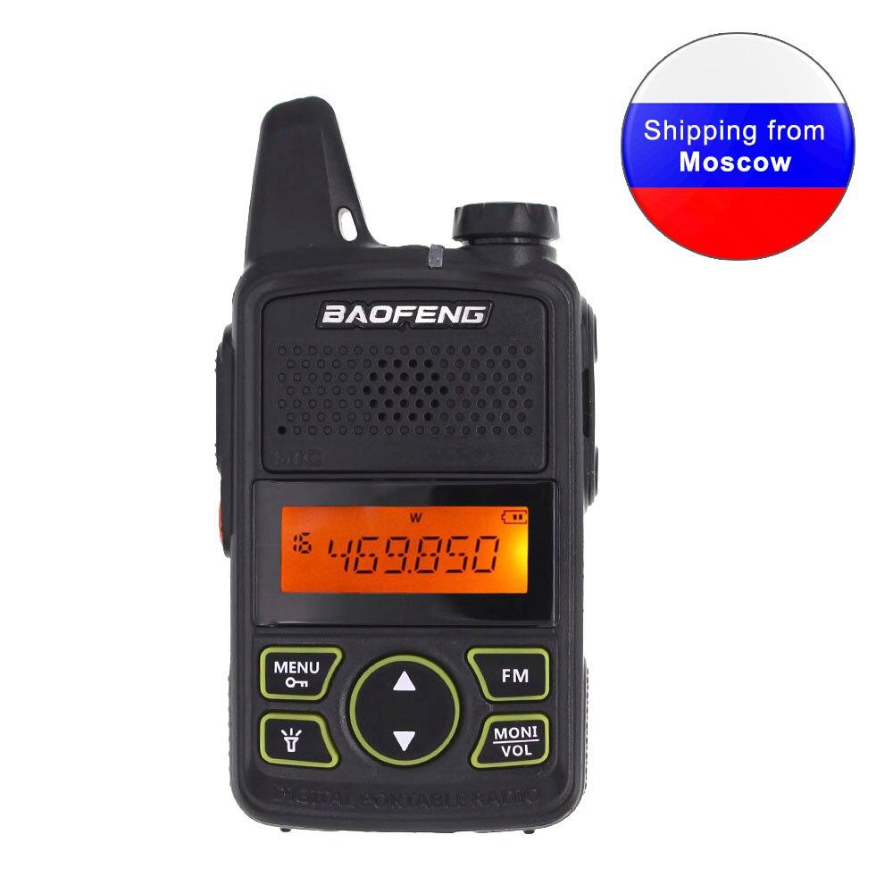 Baofeng BF-T1 Мини Портативная двухсторонняя рация UHF 400-470MHz 20CH FM рация с наушником или usb-кабелем