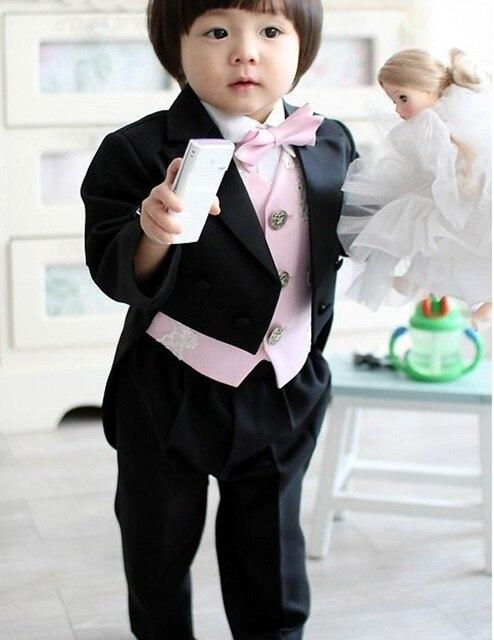 ¡Novedad! ¡novedad de 2020! Esmoquin para niños, trajes de cuello alto, conjuntos de Blzaer, trajes de baile formales para chico negro (chaqueta, chaleco, pantalones y pajarita)