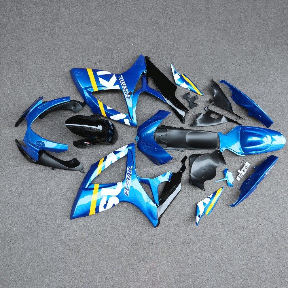 ABS Injection Fairing Bodywork Panel Kit Set Fit for Suzuki GSXR600/750 K6 2006-2007 Motorcycle