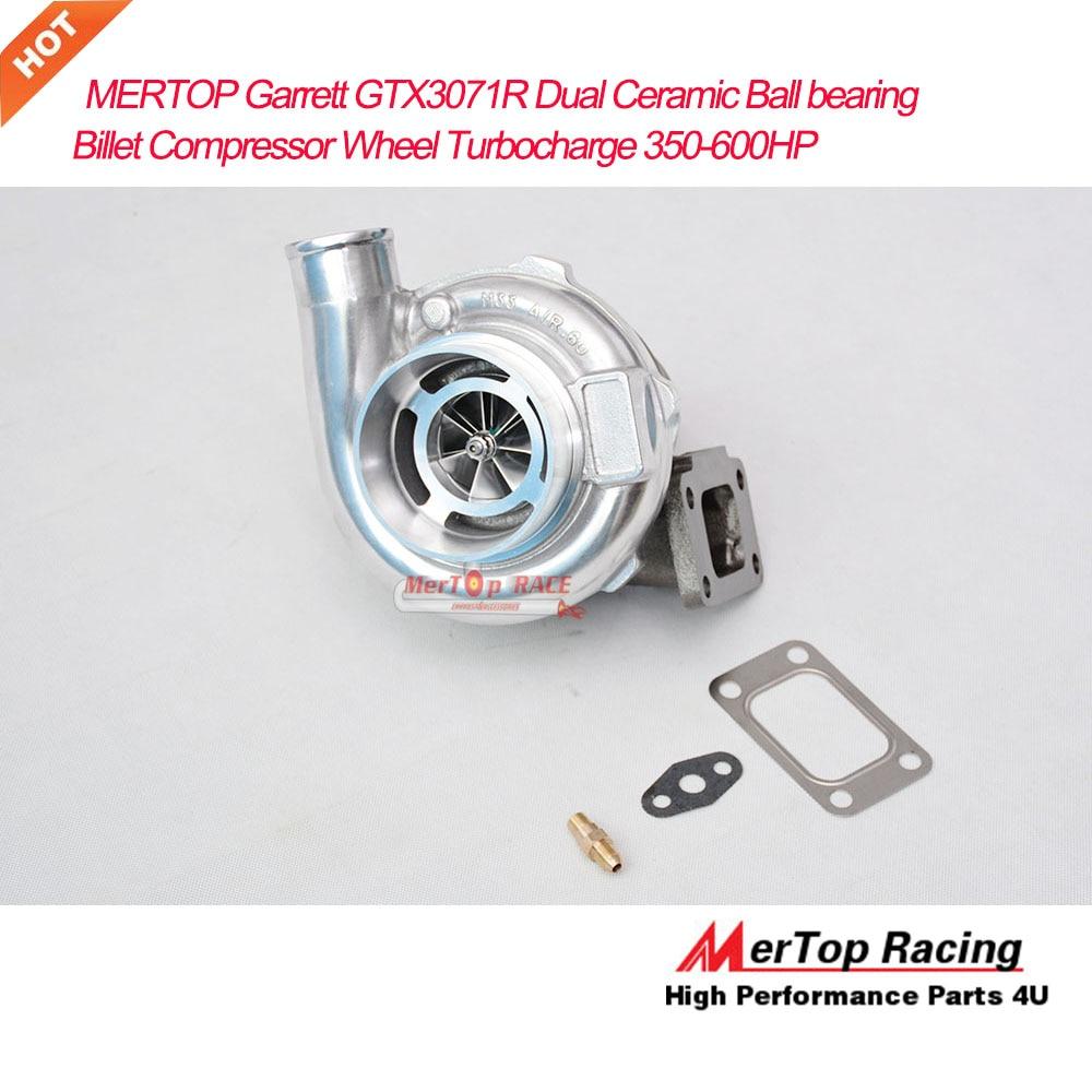 MERTOP GT3071 GTX3071R Anti-de T3 Universal doble rodamiento de bolas de cerámica palanquilla Turbo rueda de compresor Turbo 350-600HP