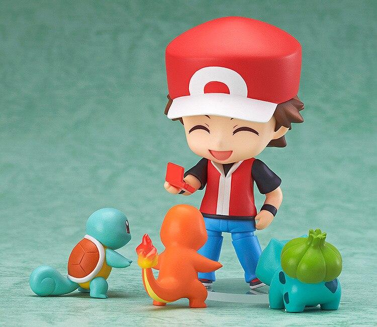 Anime Cartoopn Ash Ketchum Mit Charmander Bulbasaur Squirtle Abbildung PVC Action Figure Spielzeug Modell