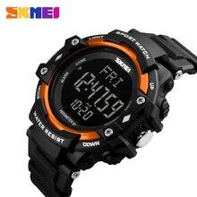 Reloj deportivo SKMEI para hombre, podómetro, Monitor de ritmo cardíaco, contador de calorías, 50 M, pantalla LED impermeable, reloj Digital para hombre 1180