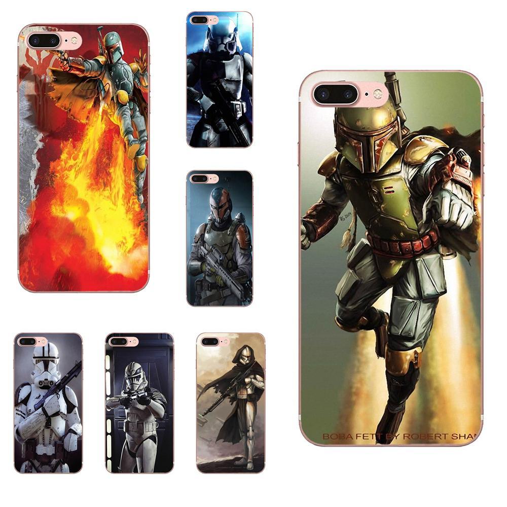 Impresión suave Daft Punk Star Wars Storm Fett grande para Xiaomi mi 3 mi 4 mi 4C mi 4i mi 5 mi 5S 5X 6 6X 8 SE A1 Max mi x 2 Note 3 4