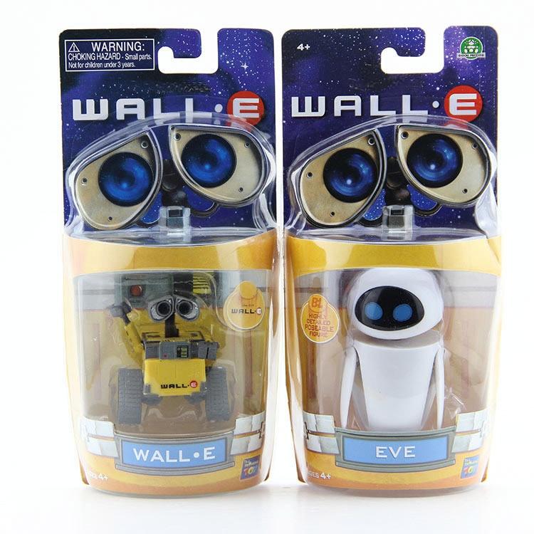 Wall-E Robot Wall E & EVE PVC Action Figure Collection Model Toys Dolls 6cm/10cm 2pcs/lot