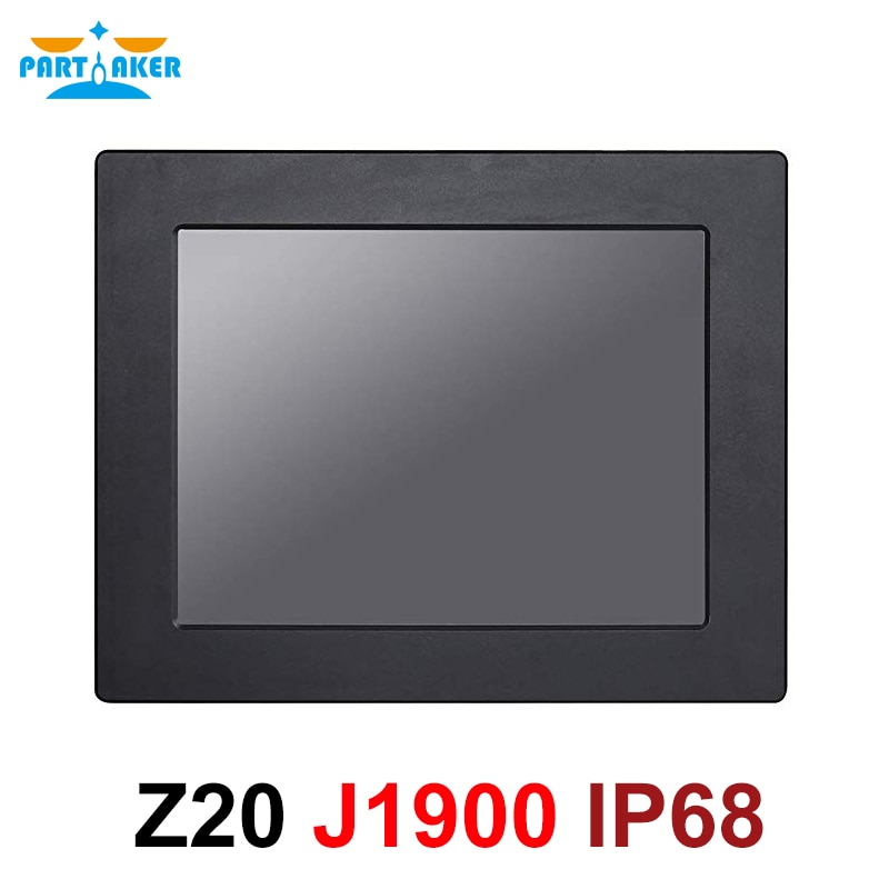 IP68 Full Waterproof 12.1 Inch Industrial Panel PC All in One Resistive Touch Screen with Windows 7/10/Linux Intel J1900