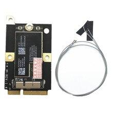 802.11AC BCM94360CS2 867Mbps aéroport WiFi WLAN carte Bluetooth 4.0 & MINI adaptateur PCI-E et antennes