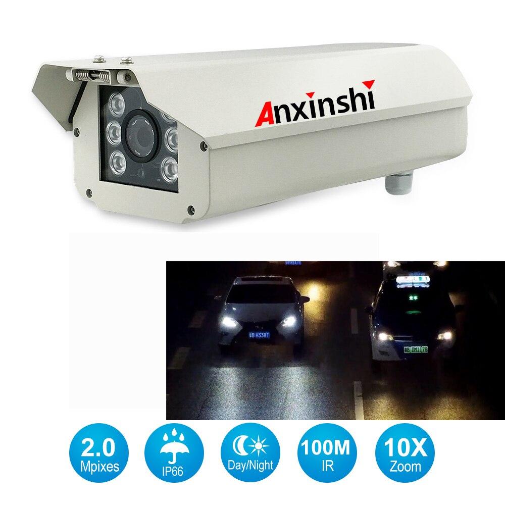 1080P impermeable onvif profesional 10x zoom lectura pantalla cámara para matrícula 2mp LPR cámara IP para carreteras, aparcamientos.