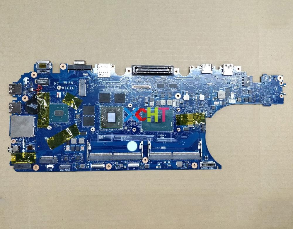 Para Dell E5570 0D152 00D152 CN-00D152 ADP80 LA-C841P w i7-6820HQ CPU w 216-0866020 GPU ordenador portátil placa base probada