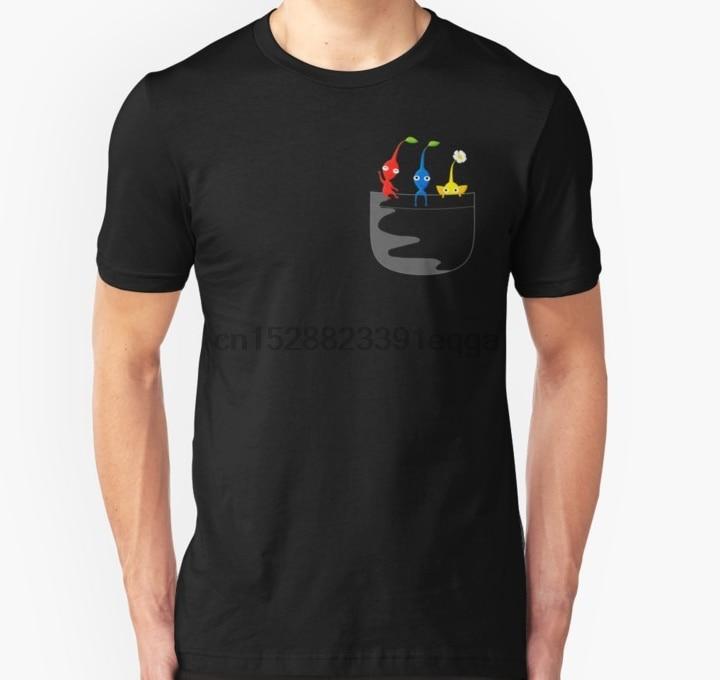 Homens de manga Curta camiseta Pikmin Tee Bolso Unisex T Shirt t-shirt Das Mulheres