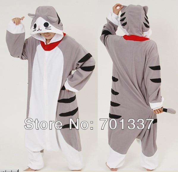 Mens Ladies Gray Tiger Adult  Animal Onesies Onsie Jumpsuit Pyjamas Pajamas 302 S/M/L/XL/XL