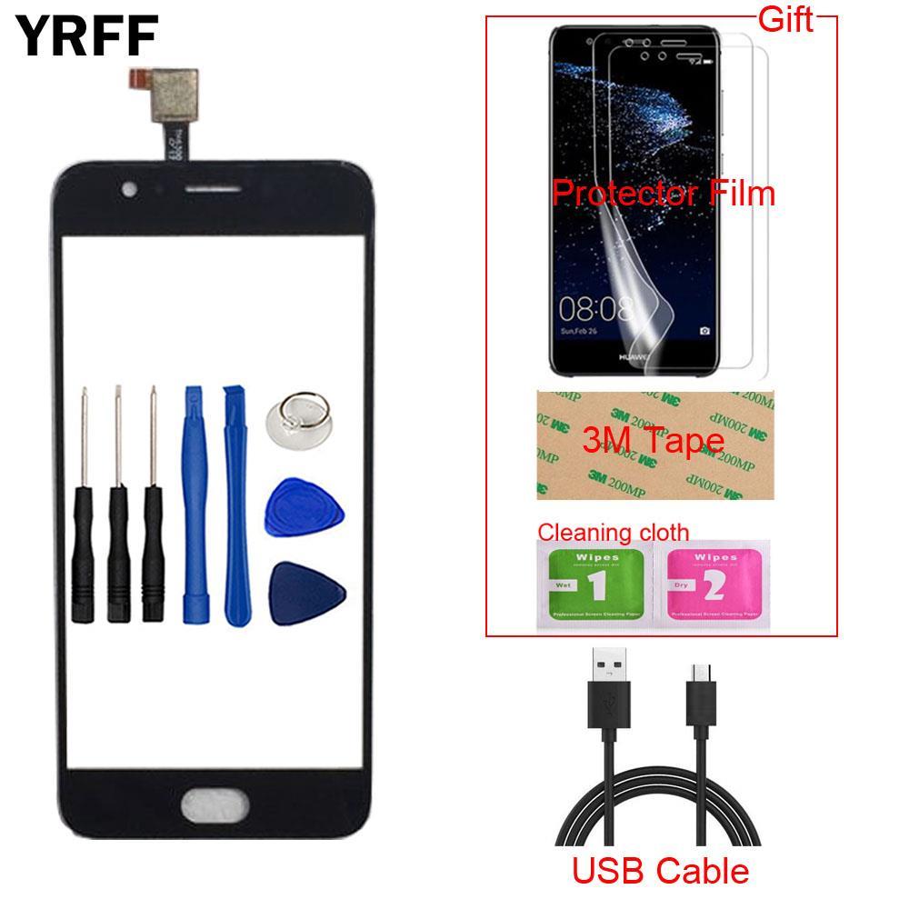 Tela sensível ao toque móvel para umi digi c2 digic2 umidigi digitador da tela do painel de toque lente sensor frente ferramentas vidro protetor filme