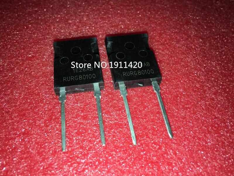 Envío gratis 10 unids/lote RURG80100 1000 V/80A-247 mejor calidad