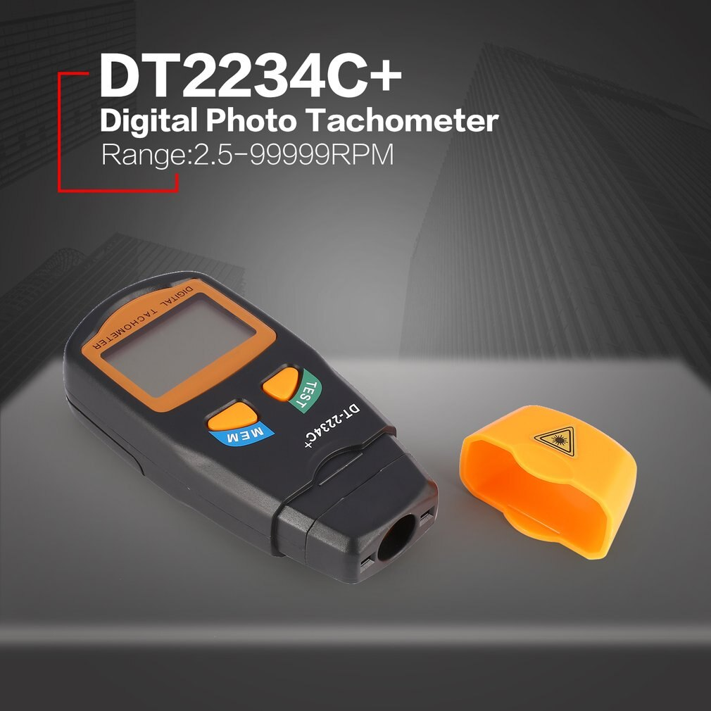 DT2234C+ Handheld LCD Digital Mini Non-contact Laser Photo Tachometer RPM Speed Measurement Meter Speedometer 2.5~99999RPM durable dt2234c digital laser counter meter non contact tachometer rev rpm counter for testing engine rotation speed gauge tools