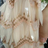 3d embroidered sequins mesh fabric lace high end customized heavy flake tassel new arrive french lace fabric 5yardslot
