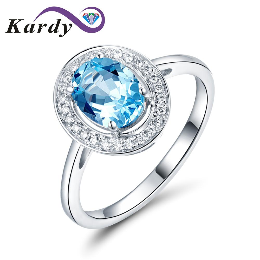 Vintage Antique Gemstone Natural Aquamarine Wedding Promise 14K Solid White Gold Diamond Ring Set for Women
