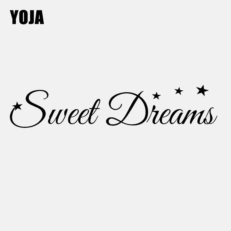 YOJA 100CM*20.6CM Sweet Dreams starsFor  Baby Kids Room Wall Decal  PVC  Wall Sticker W1-015
