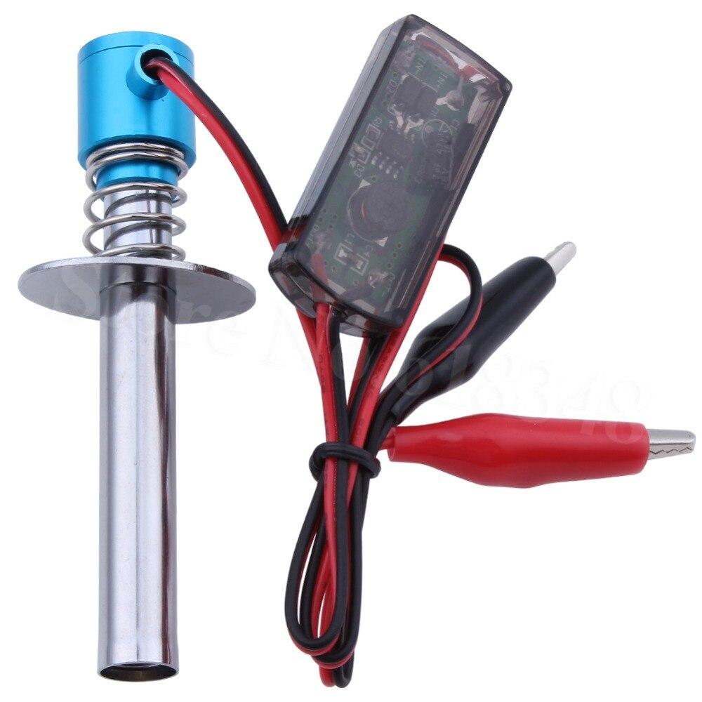 Электрические свечи, стартер с подсветкой, зажигатель для 18, 110, Nitro, багги, грузовика, радиоуправляемая модель автомобиля, лодки, вертолета, ...