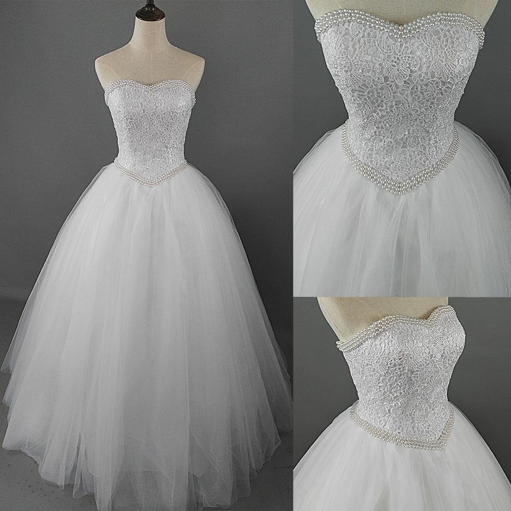 ZJ9069-Vestido De Novia de tul con perlas, imágenes reales, boda, Novia, 2015