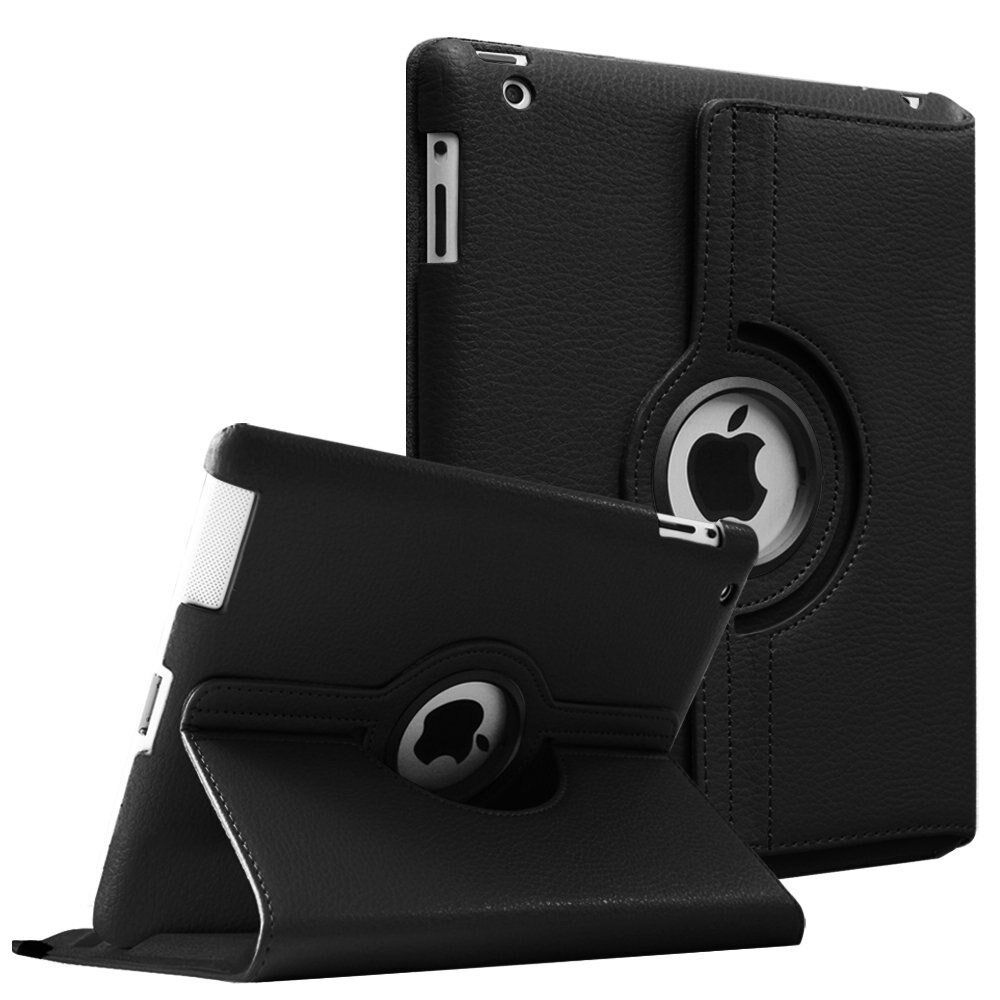 Funda de piel sintética giratoria de 360 grados para Apple iPad 2 3 4, fundas con soporte para tableta inteligente para iPad 2 3 4, funda A1397 A1416 A1430